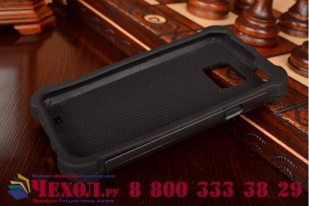 Противоударный усиленный ударопрочный фирменный чехол-бампер-пенал для Samsung Galaxy S 2 II GT-I9100 черный