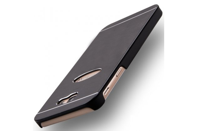 Фирменная металлическая задняя панель-крышка-накладка из тончайшего облегченного авиационного алюминия для Samsung Galaxy J5 Prime/ Samsung Galaxy On5 2016 черная
