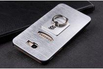 Фирменная металлическая задняя панель-крышка-накладка из тончайшего облегченного авиационного алюминия для Samsung Galaxy J5 Prime/ Samsung Galaxy On5 2016 серебристая