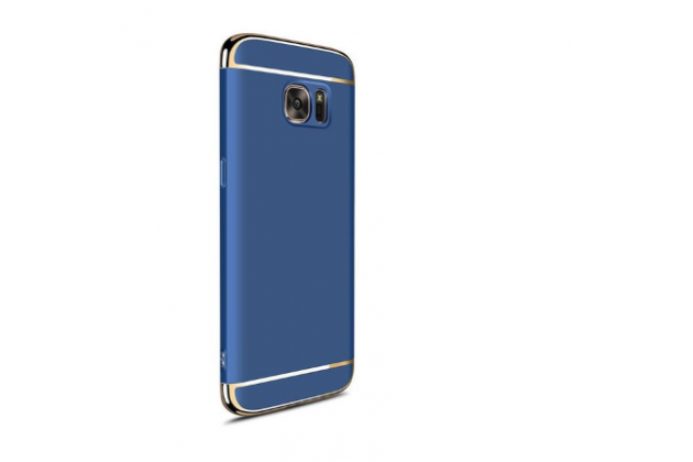 Фирменная ультра-тонкая полимерная из мягкого качественного силикона задняя панель-чехол-накладка для Samsung Galaxy J5 Prime/ Samsung Galaxy On5 2016 синяя