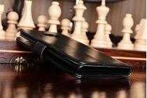 Фирменный чехол-книжка из качественной импортной кожи с подставкой застёжкой и визитницей для Самсунг Гелакси 7 эдж джи 9350/джи 935 5.5 /Samsung Galaxy S7 edge G9350/G935 5.5 черный