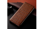 Чехол-книжка MyPads Premium для Samsung Galaxy S7 edge G9350/G935 5.5 из качественной импортной натуральной кожи теленка с фактурной прошивкой рельефа кожи крокодила экзотический коричневый. Только в нашем магазине. Количество ограничено.