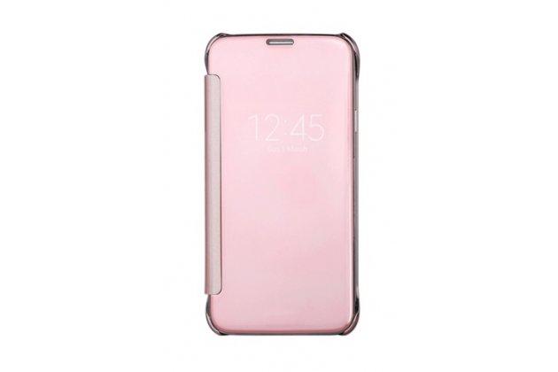 "Чехол-книжка с дизайном ""Clear View Cover""  для Samsung Galaxy S7 edge G9350/G935 5.5 розовый"