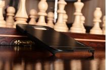 """Фирменная металлическая задняя панель-крышка-накладка для Samsung Galaxy S7 edge G9350/G935 5.5"""" из тончайшего облегченного авиационного алюминия черного цвета"""