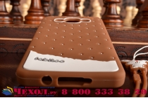 """Фирменная необычная уникальная полимерная мягкая задняя панель-чехол-накладка для Samsung Galaxy A3 SM-A300F/H/YZ """"тематика Андроид в тёмном Шоколаде"""""""