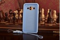 """Фирменная необычная уникальная полимерная мягкая задняя панель-чехол-накладка для Samsung Galaxy A3 SM-A300F/H/YZ """"тематика Андроид в черничном шоколаде"""""""