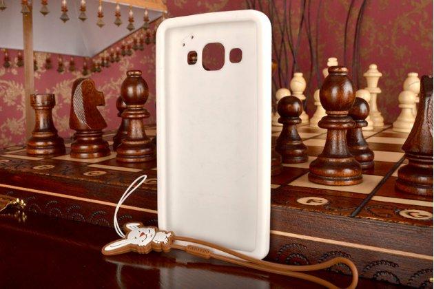 """Фирменная необычная уникальная полимерная мягкая задняя панель-чехол-накладка для Samsung Galaxy A3 SM-A300F/H/YZ """"тематика Андроид в Белом Шоколаде"""""""
