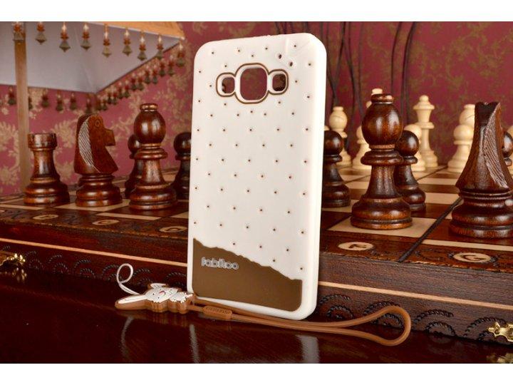 Фирменная необычная уникальная полимерная мягкая задняя панель-чехол-накладка для Samsung Galaxy A3 SM-A300F/H..
