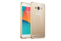 Фирменная металлическая задняя панель-крышка-накладка из тончайшего облегченного авиационного алюминия для Samsung Galaxy A5 SM-A500F/H золотая