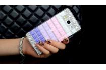 Фирменная роскошная элитная пластиковая задняя панель-накладка украшенная стразами кристалликами и декорированная элементами для Samsung Galaxy A5 радужная