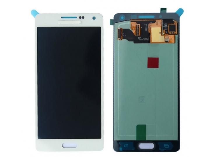 Фирменный LCD-ЖК-сенсорный дисплей-экран-стекло с тачскрином на телефон Samsung Galaxy A5 SM-A500F/H белый + г..