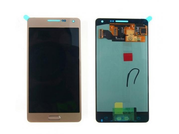 Фирменный LCD-ЖК-сенсорный дисплей-экран-стекло с тачскрином на телефон Samsung Galaxy A5 SM-A500F/H золотой +..