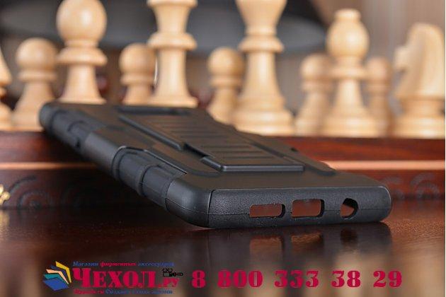 Противоударный усиленный грязестойкий фирменный чехол-бампер-пенал для Samsung Galaxy A5 2016/ A5+ / A510 / A5100 5.2 черный