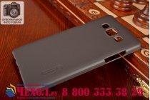 Фирменная задняя панель-крышка-накладка из тончайшего и прочного пластика для Samsung Galaxy A5 черная