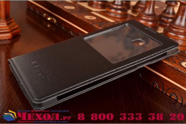Фирменный оригинальный чехол с логотипом для Samsung Galaxy A7/A7 Duos SM-A700F/A700H/A700FD S-View Cover черный угольный