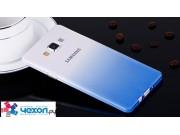 Фирменная из тонкого и лёгкого пластика задняя панель-чехол-накладка для Samsung Galaxy A7 прозрачная с эффект..