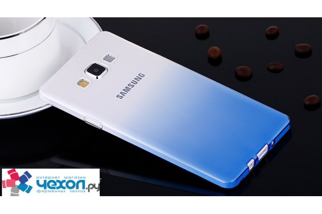 Фирменная из тонкого и лёгкого пластика задняя панель-чехол-накладка для Samsung Galaxy A7 прозрачная с эффектом дождя