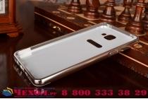 """Фирменная металлическая задняя панель-крышка-накладка из тончайшего облегченного авиационного алюминия для Samsung Galaxy A9 2016 A900F /A9000 6.0"""" серебристая"""