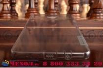 """Фирменная ультра-тонкая полимерная из мягкого качественного силикона задняя панель-чехол-накладка для Samsung Galaxy A9 2016 A900F /A9000 6.0""""  серебристая с защитными заглушками"""