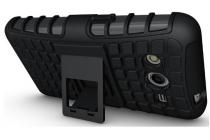 Противоударный усиленный ударопрочный фирменный чехол-бампер-пенал для Samsung Galaxy Core 2 Duos SM-G355H/DS черный