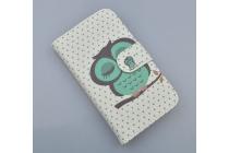 """Фирменный уникальный необычный чехол-книжка для Samsung Galaxy Core 2 G355h """"тематика Сова"""""""
