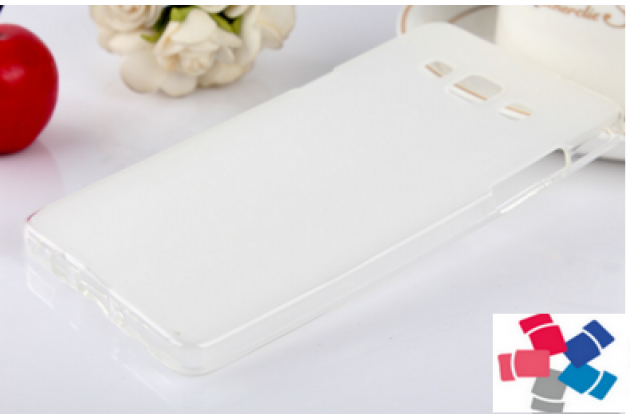 Фирменная ультра-тонкая полимерная из мягкого качественного силикона задняя панель-чехол-накладка для Samsung Grand 3 / Grand  Max G7200 белая