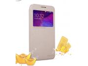 Фирменный чехол-книжка для Samsung Grand 3 / Grand  Max G7200 с функцией умного окна(входящие вызовы, фонарик,..