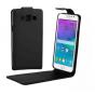 Фирменный оригинальный вертикальный откидной чехол-флип для Samsung Grand 3 / Grand  Max G7200 черный из натур..