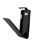 """Фирменный оригинальный вертикальный откидной чехол-флип для Samsung Grand 3 / Grand  Max G7200 черный из натуральной кожи """"Prestige"""" Италия"""