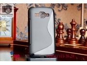 Фирменная ультра-тонкая полимерная мягкая задняя панель-чехол-накладка для Samsung Galaxy J1 SM-J100H/F/DS чер..
