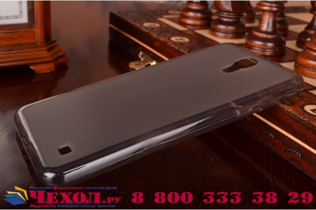 Фирменная ультра-тонкая полимерная из мягкого качественного силикона задняя панель-чехол-накладка для Samsung Galaxy Mega 2 SM-G750F черная