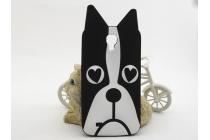 """Фирменная задняя панель-чехол-накладка с объёмным 3D изображением для Samsung Galaxy Mega 6.3 GT-i9200 """"тематика черно-белая Собака"""""""