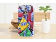Фирменная роскошная задняя панель-чехол-накладка с безумно красивым разноцветным рисунком на Samsung Galaxy Me..