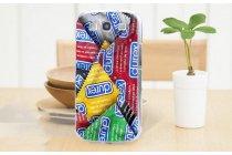 Фирменная роскошная задняя панель-чехол-накладка с безумно красивым разноцветным рисунком на Samsung Galaxy Mega 6.3 GT-i9200