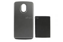 Усиленная батарея-аккумулятор большой повышенной ёмкости 3600mAh для телефона Samsung Galaxy Nexus GT-I9250 + задняя крышка черная+ гарантия