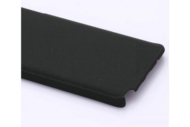 Фирменная задняя панель-крышка-накладка из тончайшего и прочного пластика для Samsung Galaxy Note 5  черная