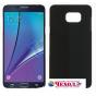 Фирменная задняя панель-крышка-накладка из тончайшего и прочного пластика для Samsung Galaxy Note 5  черная..
