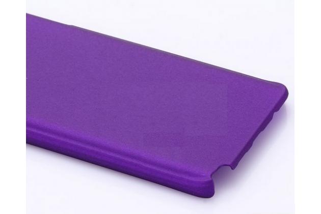 Фирменная задняя панель-крышка-накладка из тончайшего и прочного пластика для Samsung Galaxy Note 5 фиолетовая