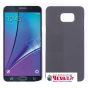 Фирменная задняя панель-крышка-накладка из тончайшего и прочного пластика для Samsung Galaxy Note 5  серая..
