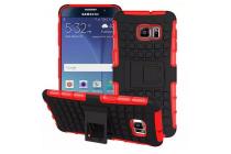 Противоударный усиленный ударопрочный фирменный чехол-бампер-пенал для Samsung Galaxy Note 5 красный