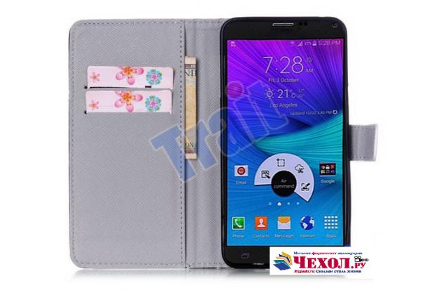 """Уникальный чехол-книжка для Samsung Galaxy Note 5 """"тематика Не трогай мой Чехол"""" черный с глазами"""