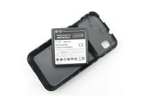 Усиленная батарея-аккумулятор большой повышенной ёмкости 3500mah для телефона Samsung Galaxy S1 / S1 Plus GT-i9000/i9001/i9008 + задняя крышка черная+ гарантия