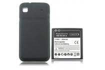 Усиленная батарея-аккумулятор большой ёмкости 3500mah для телефона Samsung Galaxy S1 / S1 Plus GT-i9000/i9001/i9008 + задняя крышка черная+ гарантия