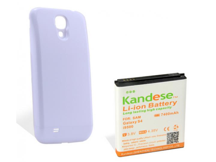Усиленная батарея-аккумулятор большой повышенной ёмкости 7400mah для телефона Samsung Galaxy S4 / S4 LTE/ S4 V..