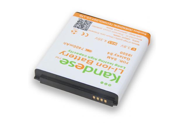 Усиленная батарея-аккумулятор большой повышенной ёмкости 7400mah для телефона Samsung Galaxy S4 / S4 LTE/ S4 Value GT-i9500/i9505/i9506/i9515 + задняя крышка белая+ гарантия