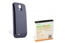 Усиленная батарея-аккумулятор большой ёмкости 7400mah для телефона Samsung Galaxy S4 / S4 LTE/ S4 Value GT-i9500/i9505/i9506/i9515 / Active GT-I9295 + задняя крышка черная+ гарантия