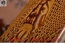 Фирменный роскошный эксклюзивный чехол с объёмным 3D изображением кожи крокодила коричневый для Samsung Galaxy S6 Edge Plus + SM-G928 . Только в нашем магазине. Количество ограничено