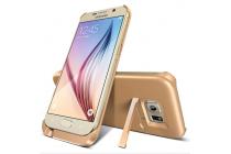 Чехол-бампер со встроенной усиленной мощной батарей-аккумулятором большой повышенной расширенной ёмкости 4800mAh для Samsung Galaxy S6 Edge SM-G925F золотой + гарантия