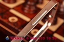 Фирменный оригинальный ультра-тонкий чехол-бампер для Samsung Galaxy S5 SM-G900H/G900F золотой металлический