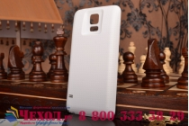 Усиленная батарея-аккумулятор большой повышенной ёмкости 7400mah для телефона Samsung Galaxy S5 /S5 Duos SM-G900H/G900FD + задняя крышка белая+ гарантия